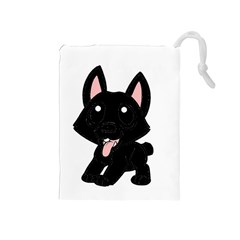 Cane Corso Cartoon Drawstring Pouches (medium)