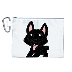 Cane Corso Cartoon Canvas Cosmetic Bag (L)