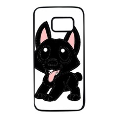 Cane Corso Cartoon Samsung Galaxy S7 Black Seamless Case
