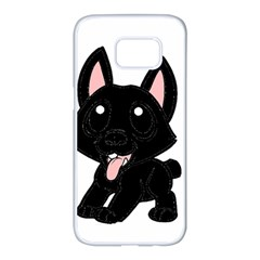 Cane Corso Cartoon Samsung Galaxy S7 edge White Seamless Case