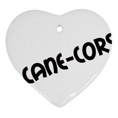 Cane Corso Mashup Ornament (heart)