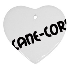 Cane Corso Mashup Heart Ornament (two Sides)
