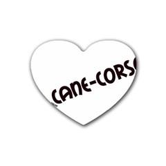 Cane Corso Mashup Rubber Coaster (Heart)