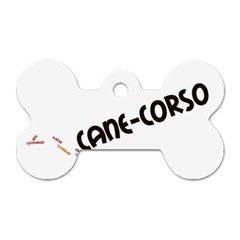 Cane Corso Mashup Dog Tag Bone (one Side)