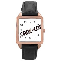 Cane Corso Mashup Rose Gold Leather Watch