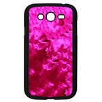 Hot Pink Floral Pattern Samsung Galaxy Grand DUOS I9082 Case (Black) Front