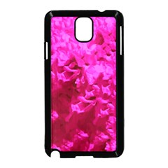 Hot Pink Floral Pattern Samsung Galaxy Note 3 Neo Hardshell Case (black)
