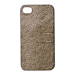 Animal Print Panthera Onca Texture Pattern Apple Iphone 4/4s Hardshell Case With Stand
