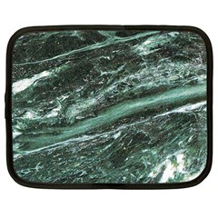 Green Marble Stone Texture Emerald  Netbook Case (large)