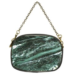 Green Marble Stone Texture Emerald  Chain Purses (one Side)