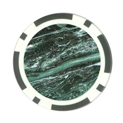 Green Marble Stone Texture Emerald  Poker Chip Card Guard (10 Pack)