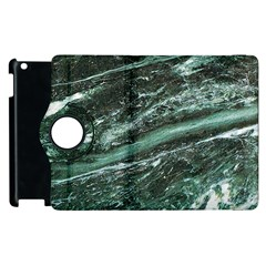Green Marble Stone Texture Emerald  Apple iPad 2 Flip 360 Case