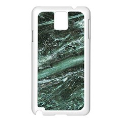 Green Marble Stone Texture Emerald  Samsung Galaxy Note 3 N9005 Case (white)