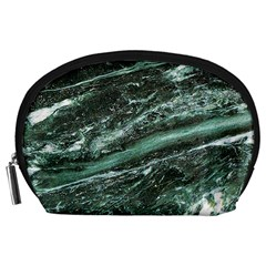 Green Marble Stone Texture Emerald  Accessory Pouches (large)
