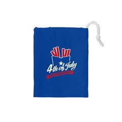 Usa Fries 4july Drawstring Pouch (small)