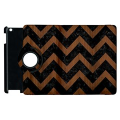 CHV9 BK-MRBL BR-WOOD Apple iPad 2 Flip 360 Case