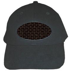 Brick1 Black Marble & Brown Wood Black Cap