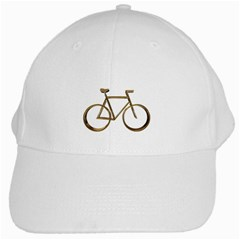 Elegant Gold Look Bicycle Cycling  White Cap