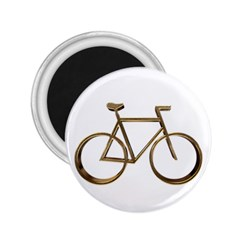 Elegant Gold Look Bicycle Cycling  2 25  Magnets