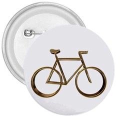 Elegant Gold Look Bicycle Cycling  3  Buttons