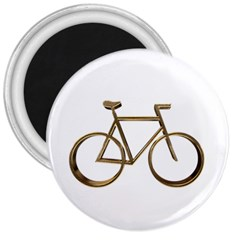 Elegant Gold Look Bicycle Cycling  3  Magnets