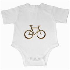 Elegant Gold Look Bicycle Cycling  Infant Creepers