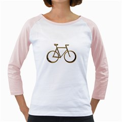 Elegant Gold Look Bicycle Cycling  Girly Raglans
