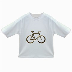 Elegant Gold Look Bicycle Cycling  Infant/toddler T Shirts