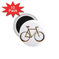 Elegant Gold Look Bicycle Cycling  1 75  Magnets (10 Pack)