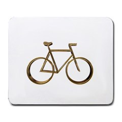 Elegant Gold Look Bicycle Cycling  Large Mousepads