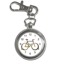Elegant Gold Look Bicycle Cycling  Key Chain Watches