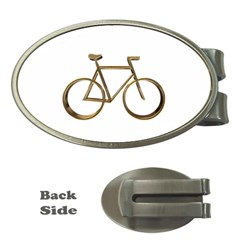 Elegant Gold Look Bicycle Cycling  Money Clips (oval)