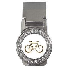 Elegant Gold Look Bicycle Cycling  Money Clips (cz)
