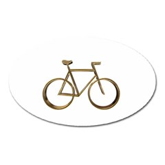 Elegant Gold Look Bicycle Cycling  Oval Magnet