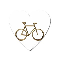 Elegant Gold Look Bicycle Cycling  Heart Magnet
