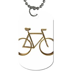 Elegant Gold Look Bicycle Cycling  Dog Tag (two Sides)