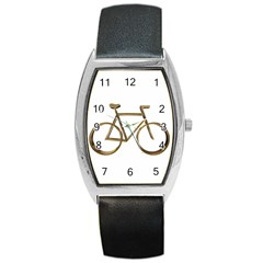 Elegant Gold Look Bicycle Cycling  Barrel Style Metal Watch