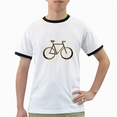 Elegant Gold Look Bicycle Cycling  Ringer T Shirts