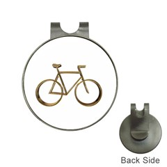 Elegant Gold Look Bicycle Cycling  Hat Clips With Golf Markers