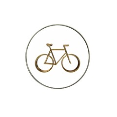 Elegant Gold Look Bicycle Cycling  Hat Clip Ball Marker (4 Pack)