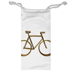 Elegant Gold Look Bicycle Cycling  Jewelry Bag