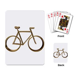 Elegant Gold Look Bicycle Cycling  Playing Card
