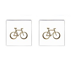 Elegant Gold Look Bicycle Cycling  Cufflinks (square)