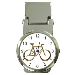 Elegant Gold Look Bicycle Cycling  Money Clip Watches