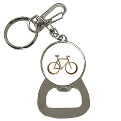 Elegant Gold Look Bicycle Cycling  Button Necklaces