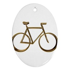 Elegant Gold Look Bicycle Cycling  Oval Ornament (two Sides)