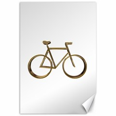 Elegant Gold Look Bicycle Cycling  Canvas 12  X 18