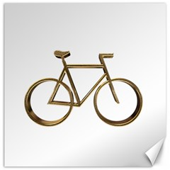 Elegant Gold Look Bicycle Cycling  Canvas 16  X 16