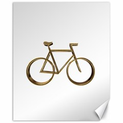 Elegant Gold Look Bicycle Cycling  Canvas 16  X 20