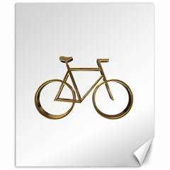 Elegant Gold Look Bicycle Cycling  Canvas 20  X 24